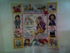 Cross stitch square for Charlotte M's quilt