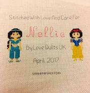 Cross stitch square for Nellie M's quilt