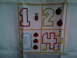 Cross stitch square for Stevie L's quilt