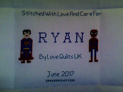 Cross stitch square for Ryan J's quilt