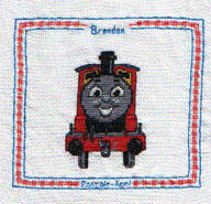 Cross stitch square for Brandon's quilt