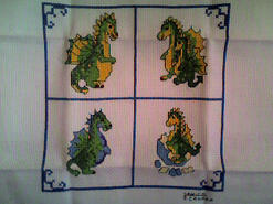 Cross stitch square for Ethan T's quilt
