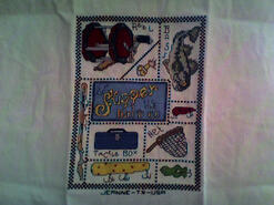 Cross stitch square for Louis G's quilt