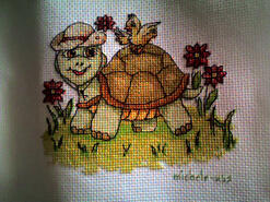 Cross stitch square for Aurelia S's quilt
