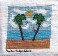 Cross stitch square for Isla W's quilt