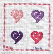 Cross stitch square for Amelia F's quilt