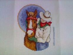 Cross stitch square for Chasey O's quilt