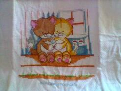Cross stitch square for Noah H's quilt