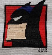 Cross stitch square for Kylan B's quilt