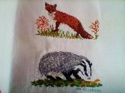 Cross stitch square for George W's quilt