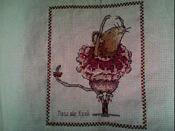 Cross stitch square for Jessica S's quilt