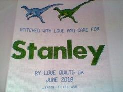 Cross stitch square for Stanley J's quilt