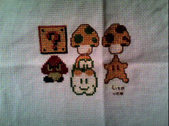 Cross stitch square for Samuel W's quilt