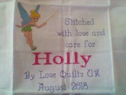 Cross stitch square for Holly C's quilt