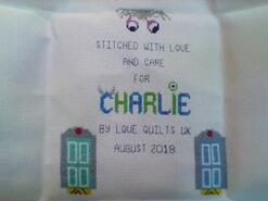 Cross stitch square for Charlie S's quilt
