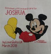 Cross stitch square for Joshua S's quilt