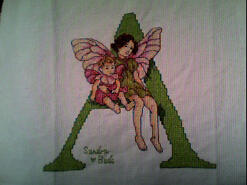 Cross stitch square for Amelia Rose's quilt