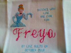 Cross stitch square for Freya M's quilt