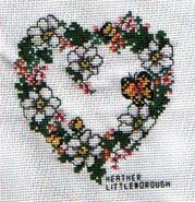 Cross stitch square for Nicola H's quilt