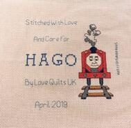 Cross stitch square for Hago B's quilt