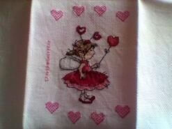 Cross stitch square for Isla-Rose's quilt