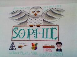Cross stitch square for Sophie F's quilt