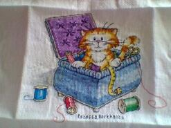 Cross stitch square for Summer L's quilt