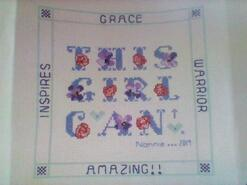 Cross stitch square for Grace G's quilt