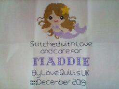 Cross stitch square for Maddie G's quilt