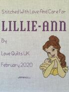 Cross stitch square for Lillie-Ann A's quilt