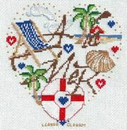 Cross stitch square for Toby D's quilt