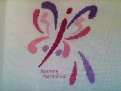 Cross stitch square for Jayda J's quilt