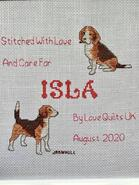 Cross stitch square for Isla L's quilt