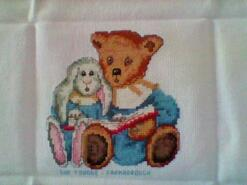 Cross stitch square for Leah-Marie's quilt