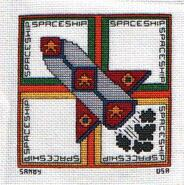 Cross stitch square for Thomas's quilt