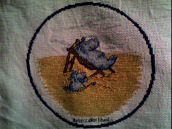 Cross stitch square for (QUILTED) Circles 1's quilt