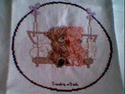Cross stitch square for (QUILTED) Circles 3 (Teddies)'s quilt