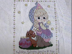 Cross stitch square for Evie-Anne's quilt