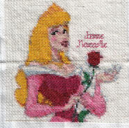 Cross stitch square for Amber-Rose's quilt