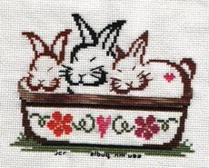 Cross stitch square for Freya P's quilt