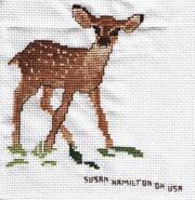 Cross stitch square for Lotty B's quilt