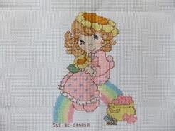 Cross stitch square for Seraphina's quilt