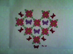 Cross stitch square for Libby O's quilt