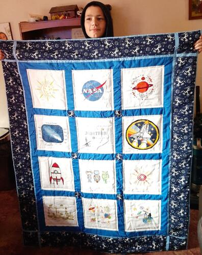 Photo of Jonathan Js quilt